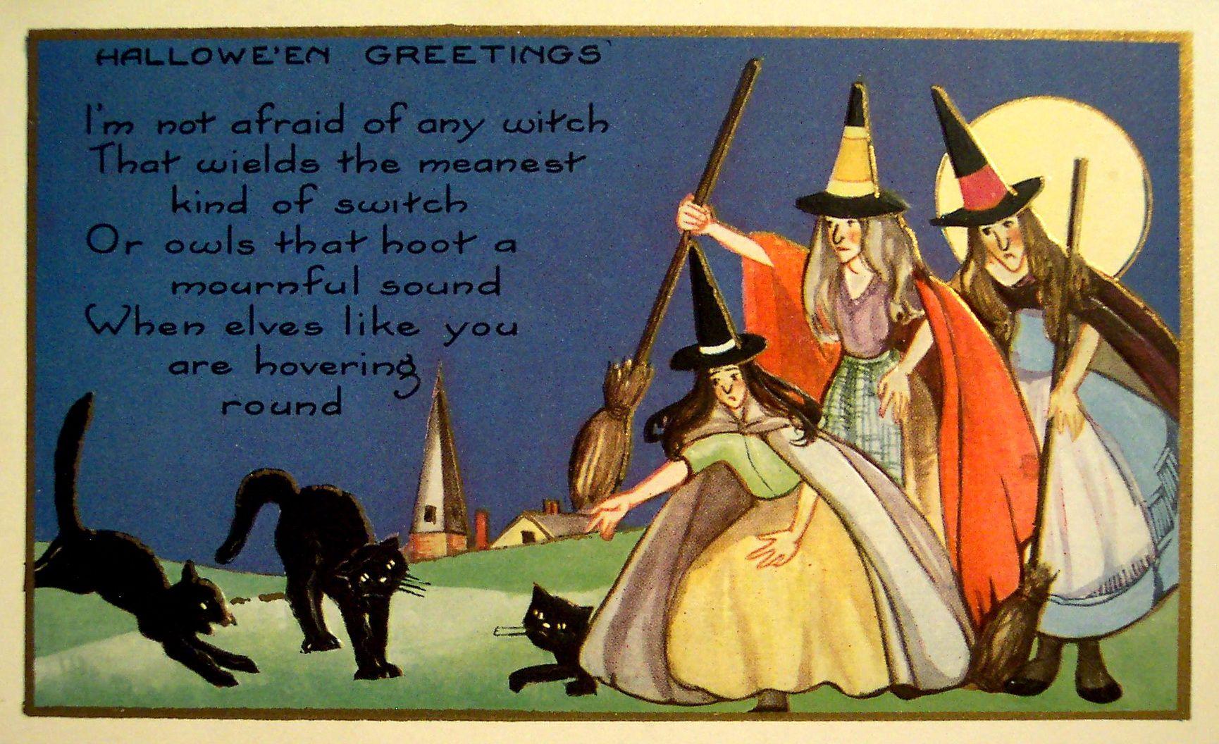 Free Vintage Halloween I Halloween E Card
